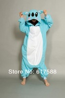 Animal Blue Koala Adult Women Ladies Onesie All In One Winter Spring Autumn Cosplay Cos Pajamas Fleece Sleepwear S-XL