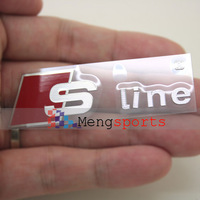 50pcs Sline M POWER nickel alloy Metal Badges Emblem Sticker 68x20mm