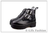 2014 New Fashion Women Boots Platform Shoes Buckle Autumn Winter Boots For Women Ankle Boots X5