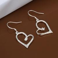 Christmas Gift!!Wholesale 925 Silver Earring 925 Silver Fashion Jewelry,Hollow Heart Earrings SMTE441