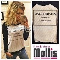 new cotton ballinciaga harlem woman's fashion sweatshirt 3d printed sweatshirt sportswear tracksuit for women long-sleeve tshirt