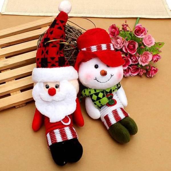 1pcs Xmas Tree Hanging Pendant Santa Claus Snowman Ornament Decoration Christmas Gift(China (Mainland))