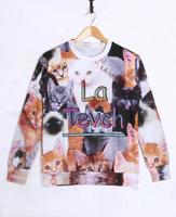 Kitten Tide 3D Printed Sweater For Women Men Sweatshirts Tops Long Sleeve