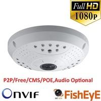 Full HD Fisheye Lens IP Dome Camera Advanced H.264 HP video compression IP CAMERA