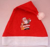 New 3PCS/Lot christmas hat headwear decorations santa claus cap ornament xmas gift