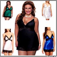 Hot Sale 2014 Women Sexy Lace Short Nightgowns Chiffon Spaghetti Straps Summer Sleepwears Pajamas For Women Free shipping