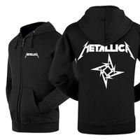 2014 new winner autumn hot sell classics zipper LEISURE WEAR lover`s hoodie metallica+1