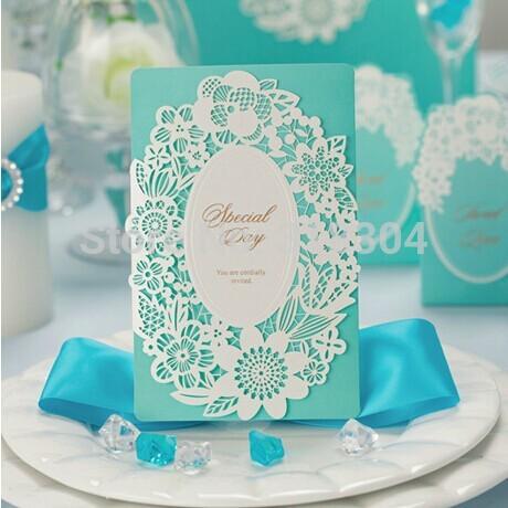 elegante flor de corte a laser 2014 europeu convites de casamento cartão de convite de casamento convite(China (Mainland))
