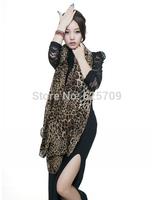 2014 New Fashion Spring Autumn Scarf Chiffon Winter Warm Scarves Leopard Pattern Shawl COFFEE  For  Gifts