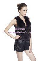 BG70902  Newest  Genuine Rex Rabbit Fur Vest  Raccoon Dog Fur  Wholesale Winter Women vest