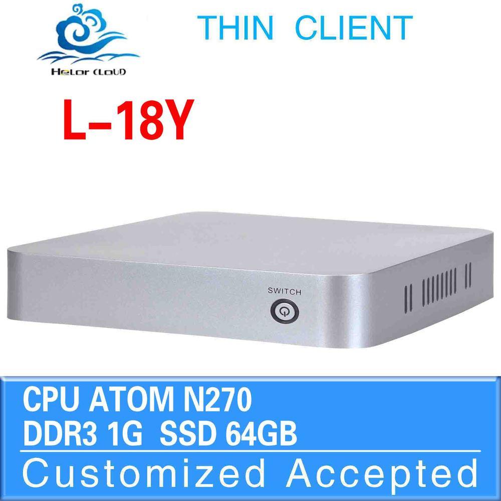 Promotional price !!! Fan desktop mimi computer L-18Y atom N270 1GB-RAM 64GB-SSD support os WIN7, Linux, Windows XP,UbuntuDebian(China (Mainland))