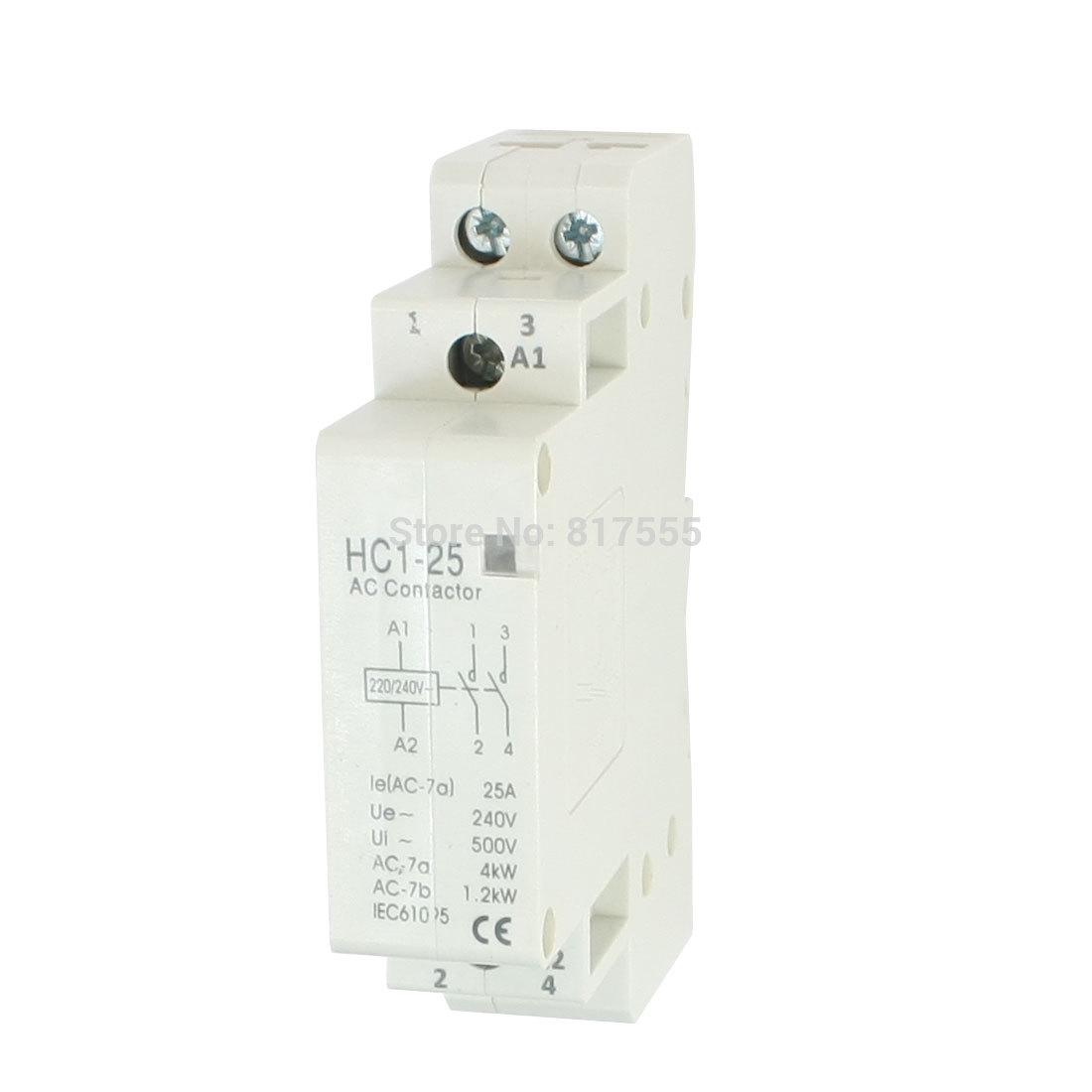 Замыкатель UX Motor AC240V 25 2 2P AC 35 DIN HC1-25  замыкатель ux motor lc1d09 ac 110 50 60 3 nc
