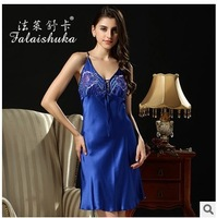 free shipping 100% silk women dress  real mulberry silk nightgown /night dress silk pajamas women sleeping dress D3396