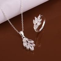 S490 925 sterling silver jewelry set, fashion jewelry set necklace ring /atnajkua gjrapaya