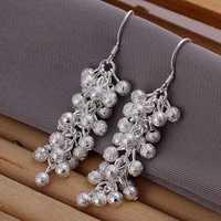 Hot Sale!!Free Shipping 925 Silver Earring,Fashion Sterling Silver Jewelry Sand Grape Earrings SMTE007