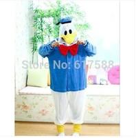 Free Shipping Donald Duck Fashion Animal Pajamas Anime Cosplay Costumes Unisex Adult Onesies Dress S/M/L/XL