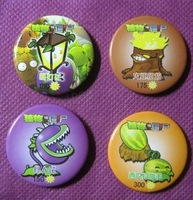 Cartoon surrounding game Plants vs. Zombies badge decorative promotional gift wholesale