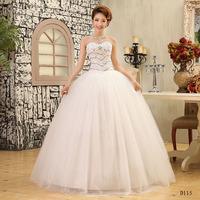 Salomon Wedding Dresses Crystal Sweatheart Bridal gown Strapless Floor Length Natural Ball Gown Vestido de noiva X041