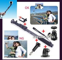 Gopro Holder Accessories Handheld Monopod Tripod for sj4000 Mobile Phone Camera Go Pro HD Hero1 2 3 3+ Aluminum self-timer