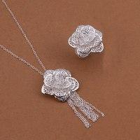 S439 925 sterling silver jewelry set, fashion jewelry set  Necklace Ring /aroajiva ghsaoyza