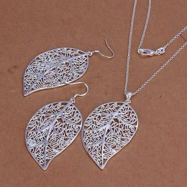 Leaf Jewelry Silver Silver Leaf Jewelry Sets