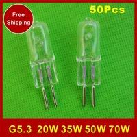 G5.3 220V 35W 50W 20W fragrance lamp oil lamp bulb halogen lamp pin lamp beads A large blister, bubble shell diameter of 13mm