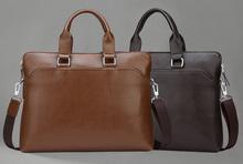 Men's Laptop Bag Shoulder Messenger Tote PU Leather Handbag Business Briefcase Super Soft High Quality Large Capacity Fashion(China (Mainland))