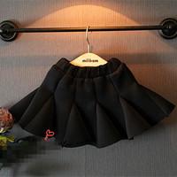 2T-8 children girl Fishtail skirt Autumn winter black color baby girls kids Flounced skirts fashion princess party tutu skirts