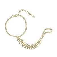 Fashion Fish Bone Ring Bracelet Gold Bracelet for Women bracelets & bangles  CB057