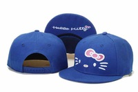 Pink hello kitty Kids Snapback hats top quality unisex hiphop youth children baseball caps Free Shipping