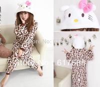 Cosplay Pajama Sets Women Couple Clothes Family Anime Pyjama Pajama Womens Sleepwear Leopard Kitty Cat Pajamas Animal Onesies KT