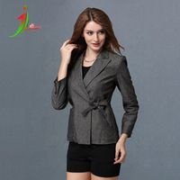 014 new winter Europe lady little suit in the long section of self-cultivation nine point sleeve jacket women wave point
