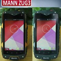 Original MANN ZUG3 ZUG 3 IP68 Waterproof 4.0 inch 800x480 pixels Qualcomm Quad Core Android 4.3 1G RAM 4GB 8.0MP GPS WCDMA