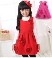 New Kids Sleeveless party dress , Autumn Winter Girls vest dress Children's princess dresses Free Shipping