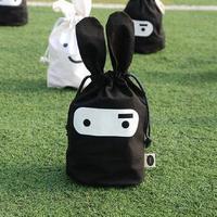 Bunny fabric storage bag bundle bag storage bag groceries and daily finishing bag packs free shipping 34*21CM A846