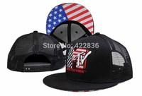 The Yo MTV Rap mesh Snapback hats USA flag 2014 New Men's womens fashion baseball caps cap Free Shipping