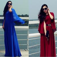 2014 One-piece Dress Elegant Cape Slim Waist One-piece Dress