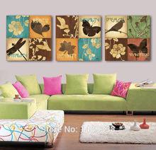 Emoldurado de alta qualidade moderna fotos decoração impressões imagem impressa sobre tela de aves pintura a óleo sobre tela 3 painel wall art(China (Mainland))