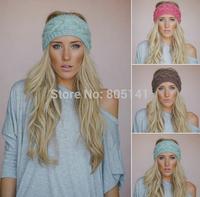 New fashion women girl knitted headband twist crochet head wrap ear warmer hair band  Free shipping