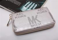 30pcs Hot  Genuine Leather original Michaeled Zipper bag Cross pattern wallet case for  5/5G/5S 4/4S wih retail box-p9