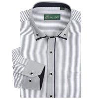 Fashion 2014 Long Sleeve Shirt Men's Casual Slim Fit Plaid Shirt Business Work Wear Camisa