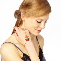 Fashion Gem Crystal Gold Ring Bracelet for Women 2014 Fashion Jewelry Statement Bijuterias bracelets & bangles CB055 coupon