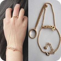 Fashion Gold LOVE cutout Ring Bracelet Fashion Jewelry for Women bracelets & bangles CB056 coupon