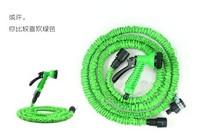 Free Shipping 25FT Hose with gun WATER GARDEN Pipe Green Water valve+ spray Gun With EU or US connector seen on TV