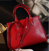HOT! Simple Red motorcycle bag Women high quality leather messenger bags ol toothpick grain shoulder bag