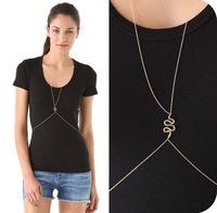 Gold Snake Charm Body Chain BC029