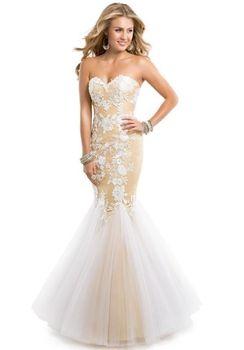 2014 современная мода свадебные платья кружево аппликации милая труба - русалка потрясающие длинный дом формальные ну вечеринку платья XY040015