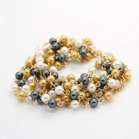 Bohemia black pearl multilayer tassel bracelet Bracelets & Bangles CB040