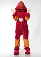 Free Shipping Animal Romper Mens Ladies Fleece Suits Onsie Fancy Dress Costume Onesie Pajamas * Lron Man