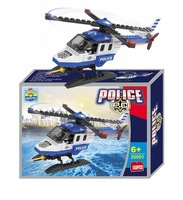 2014 Boys Model Building Kits Police Plane ,Spiral Airplanes Scale models Education Toys High Quality Wholesale retails P21-12